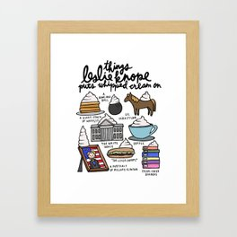 Things Leslie Knope puts Whipped Cream on Framed Art Print
