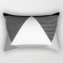 Grey Scale Print, design by Christy Nyboer Rectangular Pillow