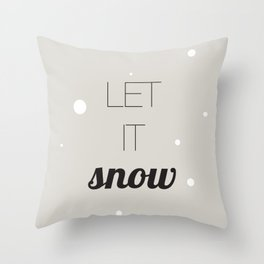 Let it snow, Christmas illustration Throw Pillow
