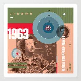 Beyond Curie: Maria Goeppert-Mayer Art Print