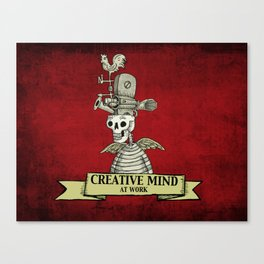 CREATIVE MIND AT WORK Canvas Print