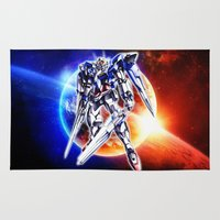 gundam Area & Throw Rugs featuring Gundam Wing by bimorecreative