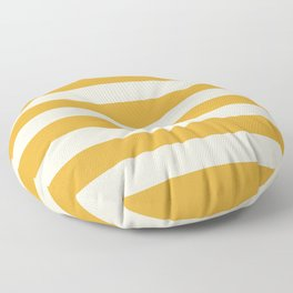 Yellow Stripes Bold Floor Pillow