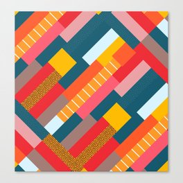 Colorful blocks Canvas Print