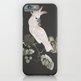 Cockatoo and Grapevine iPhone Case