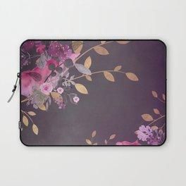 FLOWERS & GOLD  Laptop Sleeve