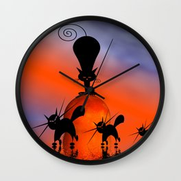 mooncat's privilege Wall Clock