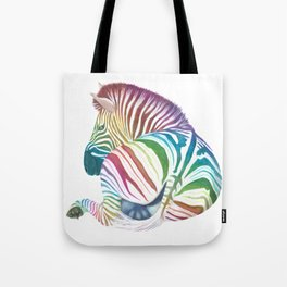 Rainbow Stripes Tote Bag