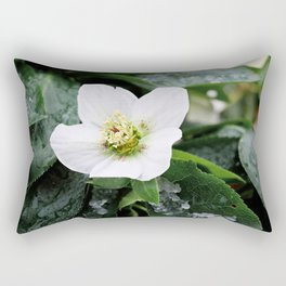 christmas rose Rectangular Pillow