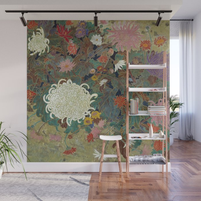 flower【Japanese painting】 Wall Mural
