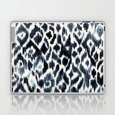 Indigo Ikat Leopard Laptop & iPad Skin