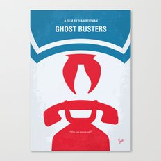 No104 My Ghostbusters minimal movie poster Canvas Print