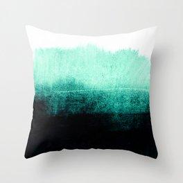 into the deep green Throw Pillow