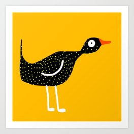 bird - yellow Art Print