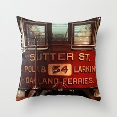 S.F. Cable Car Throw Pillow