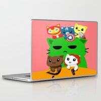 superhero Laptop & iPad Skins featuring Superhero Kitties  by Mayying