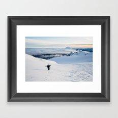 Hiking to the top of Tongariro Framed Art Print