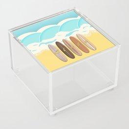 Aloha Surf Wave Beach Acrylic Box