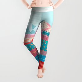 Summer Road trip to Rocky Mountains Adventures in Nature, car blue sky land airplane rural landscape Leggings