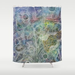 Veils Of Perception 3: Fluidity Shower Curtain