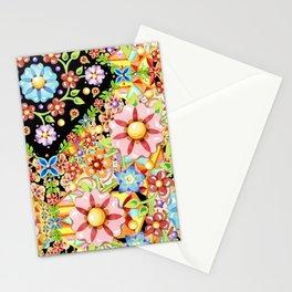 Boho Chic Flower Garden Stationery Cards