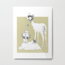 Weird & Wonderful: Space Deer Metal Print