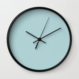 Duck Egg Blue Solid Colour Trends 2017 Wall Clock