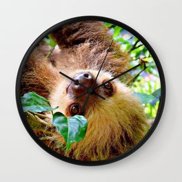Awesome Sloth Wall Clock