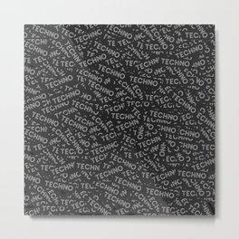Dozens of techno stickers Metal Print