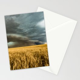 Earth Mover - Storm Advances Across Great Plains in Colorado Stationery Cards
