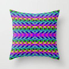 Rainbow Scaffolding Throw Pillow