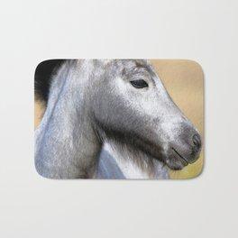 Watercolor Horse 03, Icelandic Pony, Kufhol, Iceland, Greyling Bath Mat
