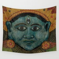 india Wall Tapestries featuring India Mask by Nip Rogers