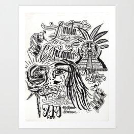 Linda Chicanita Art Print