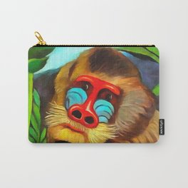 Henri Rousseau Mandrill In The Jungle Carry-All Pouch