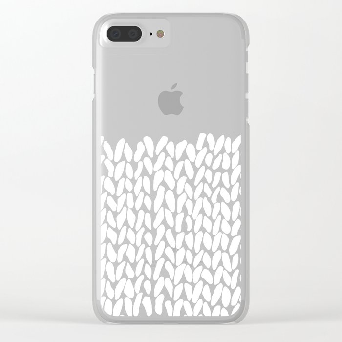 Half Knit Clear iPhone Case