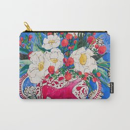 Horse Urn with Tiny Apples and Matilija Queen of California Poppies Floral Still Life Carry-All Pouch