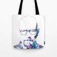 heisenberg Tote Bags featuring Heisenberg by NKlein Design