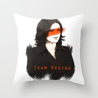 regina mills Throw Pillows featuring Team Regina by Geek World