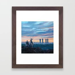 Don Quixote and Giants Framed Art Print