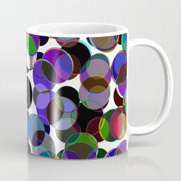 Cluttered Circles III - Abstract, Geometric, Pastel Coloured, Circle Patterned Artwork Coffee Mug