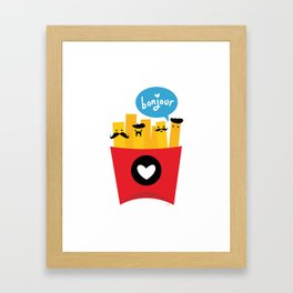 French Fries Framed Art Print