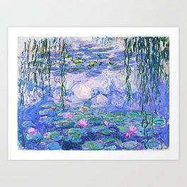 Claude Monet Water Lilies French Impressionist Art Art Print