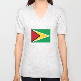 guyana country flag Unisex V-Neck