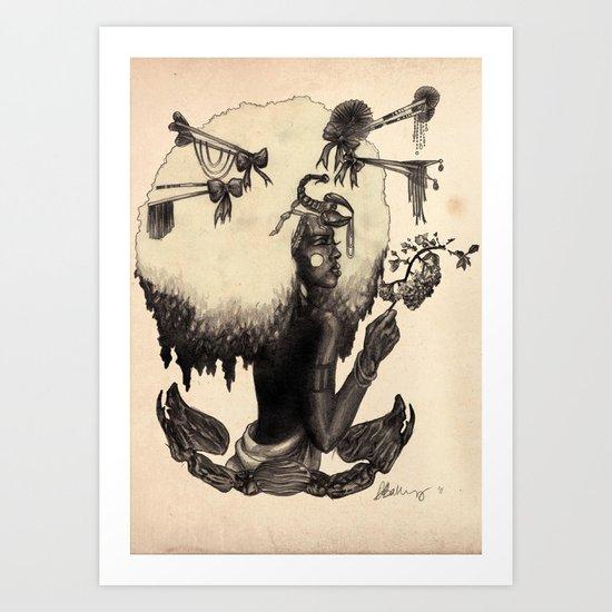 S C O R P I O - Black and White edition Art Print