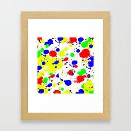 Colorful Paint Splatter. Framed Art Print