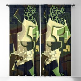"Juan Gris ""Compotier et nappe à carreaux (Fruit Dish on a Checkered Tablecloth)"" Blackout Curtain"
