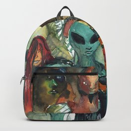 monsters watercolor squad Backpack