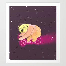 The Bikefriendly Bear Art Print