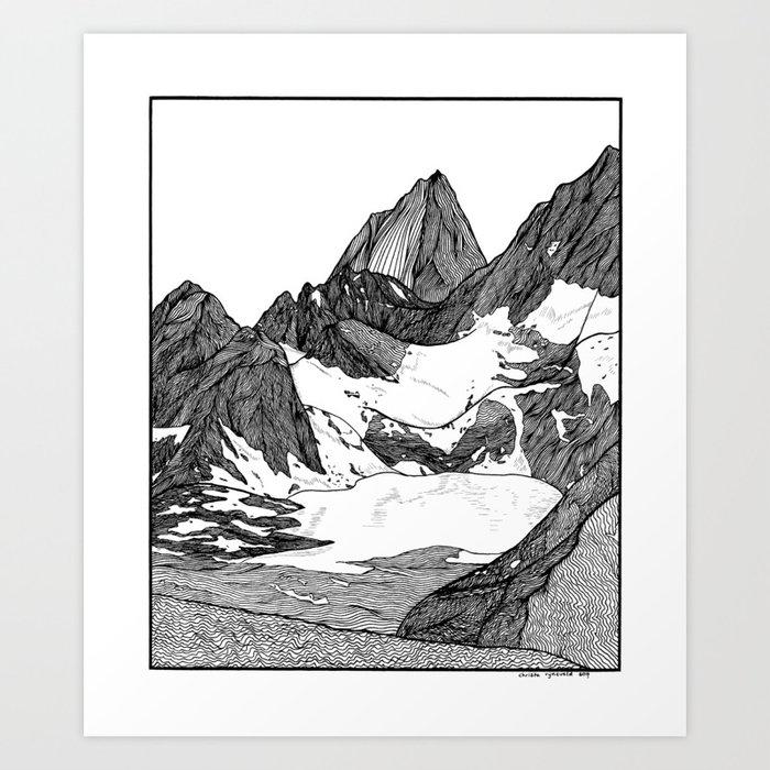 Cobalt Lake Art Print